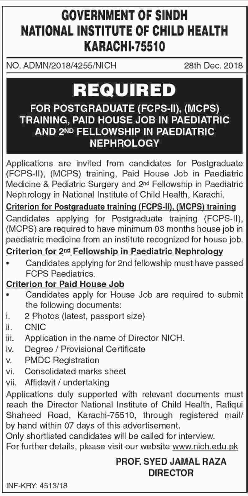 National Institute Of Child Health NICH 29 Dec 2018 Jobs