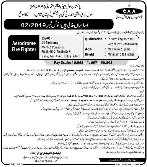 Pakistan Civil Aviation Authority CAA Jobs 30 Jan 2019
