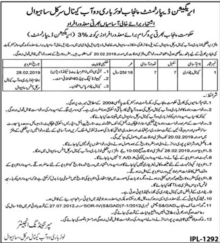 Canal Patwari Jobs Archives - Prepistan Jobs