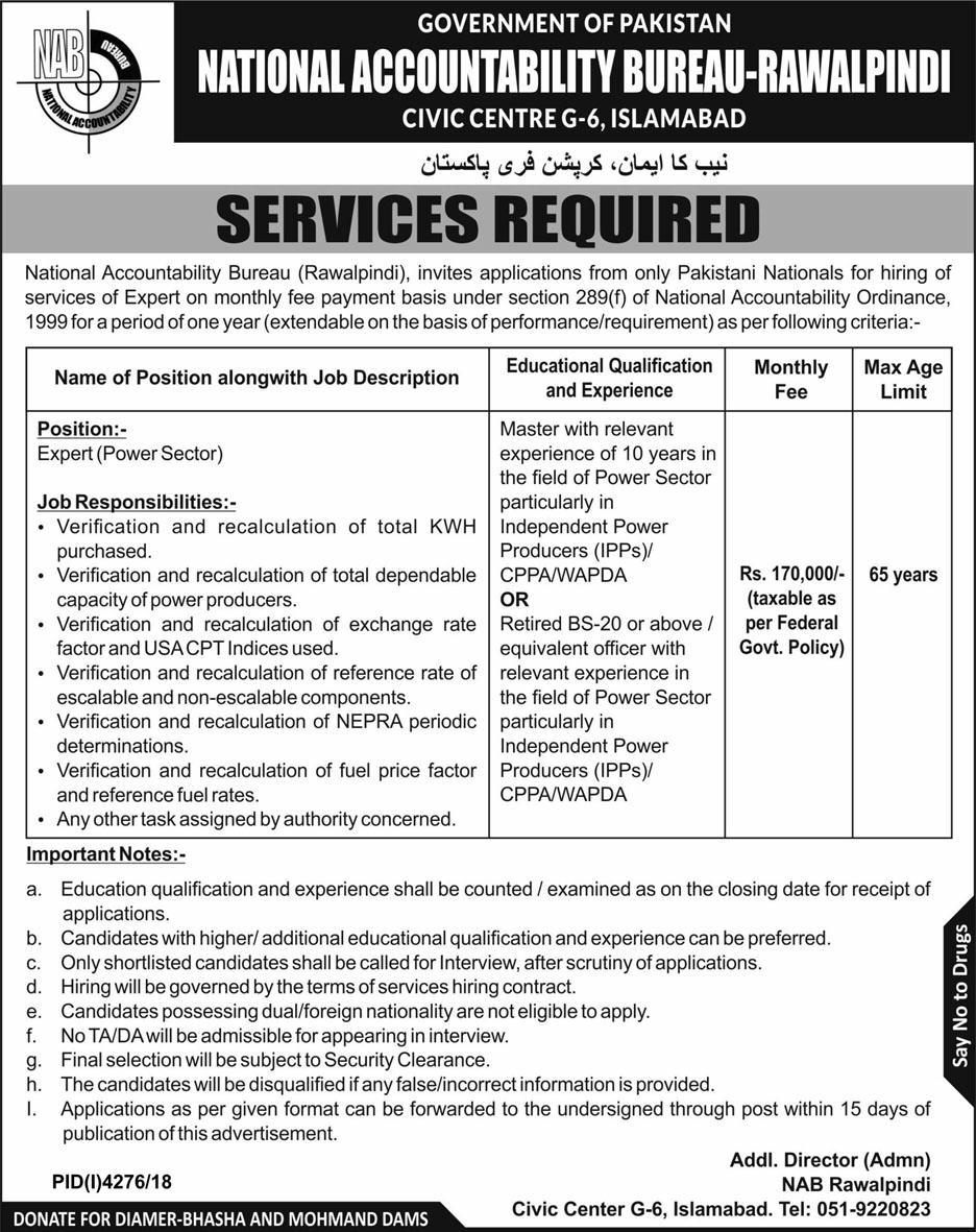 National Accountability Bureau (NAB) jobs 2019