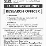Sindh Institute Of Urology And Transplantation SITU Jobs 04 Mar 2019