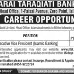 Executive Vice President Required In Zarai Taraqiati Bank Limited Jobs 28 Apr 2019
