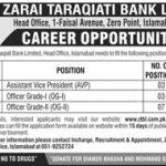 Zarai Taraqiati Bank Limited Jobs 14 Apr 2019