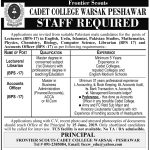 Cadet College Peshawar Jobs 21 May 2019
