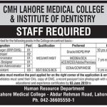 CMH Lahore Medical College & Institute Of Dentistry Jobs 27 May 2019