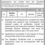 Irrigation Department Govt Of Sindh Jobs 28 May 2019