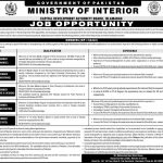Ministry Of Interior Govt Of Pakistan Jobs 30 May 2019