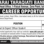 Zarai Taraqiati Bank Limited Jobs 01 May 2019
