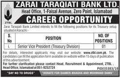 Zarai Taraqiati Bank Limited jobs 2019