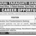 Executive Vice President Required In Zarai Taraqiati Bank Limited Jobs 17 Jun 2019