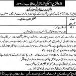 Office Of The Prosecutor General Govt Of Punjab Jobs 22 Jun 2019