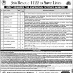 Rescue 1122 Punjab Emergency Service Announced Latest Jobs Via NTS Jobs 22 Jun 2019