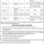 WAPDA Hospital Medical Complex Lahore Jobs 30 Jun 2019