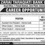 Zarai Taraqiati Bank Limited Jobs 22 Jun 2019