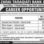 Zarai Taraqiati Bank Limited Jobs 25 Jun 2019