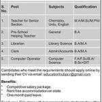 Army Public School And College Peshawar Jobs 25 Jul 2019