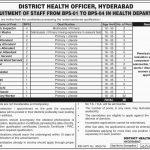 District Health Officer Hyderabad Jobs 06 Jul 20109
