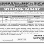 Irrigation Department Govt Of Sindh Jobs 12 Jul 2019