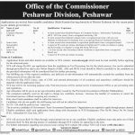 Office Of The Commissioner Peshawar Division Jobs 09 Jul 2019