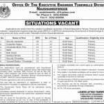 Office Of The Executive Engineer Tubewells Division Jobs 29 Jul 2019