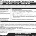 University Of Engineering And Technology Peshawar Jobs 27 Jul 2019
