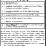 Cadet College Jacobabad Jobs 31 Aug 2019