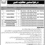 Cantonment Board Lahore Jobs 17 Aug 2019