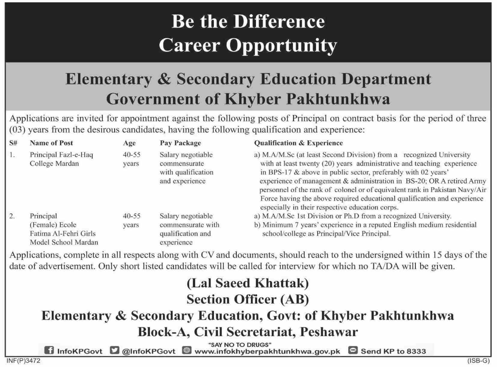 Elementary And Secondary Education Department Jobs 07 Aug