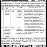 Elementary And Secondary Education Department Khyber Pakhtunkhwa Jobs 06 Aug 2019