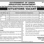Irrigation Department Jobs 06 Aug 2019