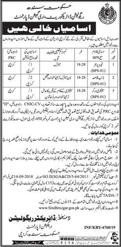 Irrigation Department Govt of Sindh jobs 2019