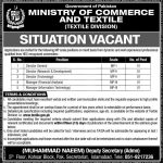 Ministry Of Commerce And Textile Jobs 21 Aug 2019
