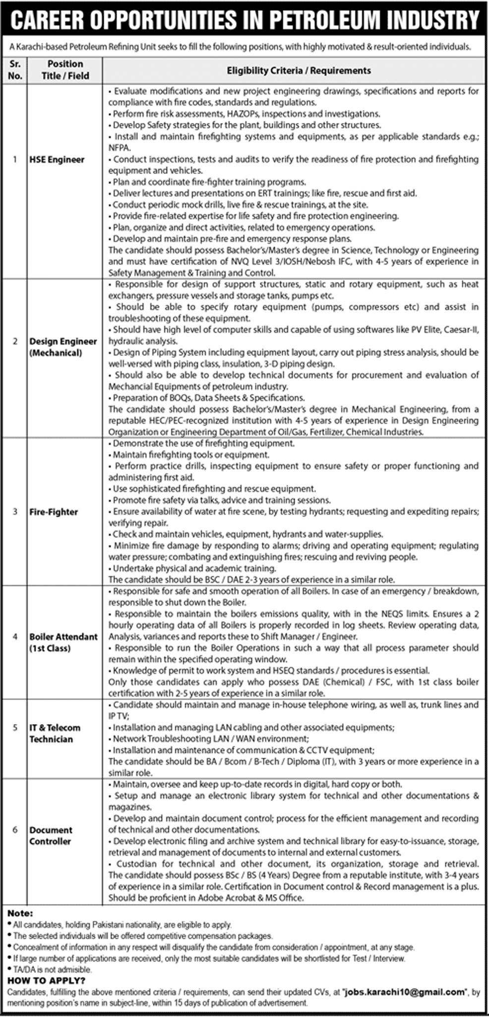 Public Sector Organization Karachi Jobs 11 Aug 2019