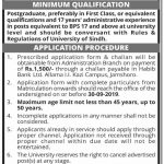 University Of Sindh Jobs 10 Aug 2019