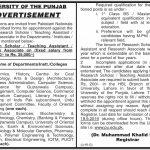 University Of The Punjab PU Jobs 29 Aug 2019