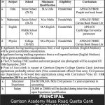 Army Public School And College Quetta Jobs 07 Sep 2019