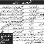 Cadet College Islamabad Jobs 06 Sep 2019