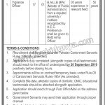 Cantonment Board Clifton Jobs 07 Sep 2019