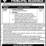 Captain Karnal Sher Khan Shaheed Cadet College Jobs 15 Sep 2019