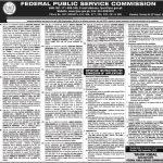 Federal Public Service Commission FPSC Jobs 01 Sep 2019
