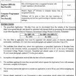 Govt College Women University Faisalabad Jobs 08 Sep 2019