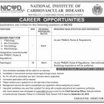 National Institute Of Cardiovascular Diseases Jobs 09 Sep 2019