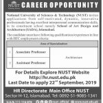National University Of Science And Technology Jobs 09 Sep 2019