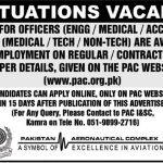 Pakistan Aeronautical Complex Jobs 01 Sep 2019