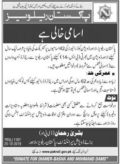 Drivers Required In Pakistan Railways 25 October 2019