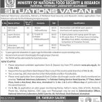 Ministry Of National Food And Security Research Jobs 04 Oct 2019
