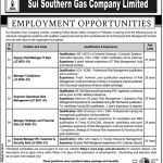 Sui Northern Gas Pipelines Limited Jobs 06 Oct 2019