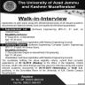 University Of Azad Jammu And Kashmir Jobs 01 October 2019