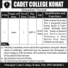 Imam Required In Cadet College Kohat Jobs 10 November 2019