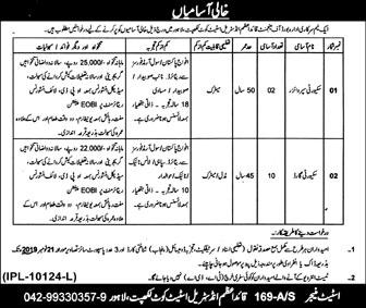 Jobs In Quaid E Azam Industrial Estate Kot Lakhpat 09 November 2019
